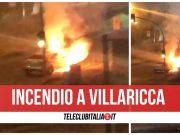 villaricca incendio auto mercedes circumvallazione esterna