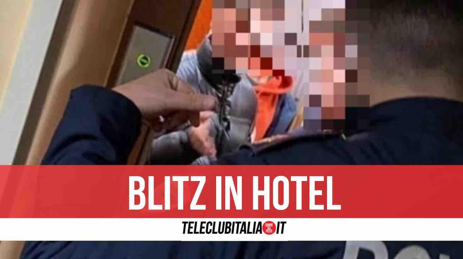 polizia latitante albergo san giorgio a cremano