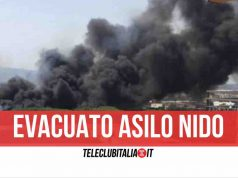incendio napoli evacuato asilo nido