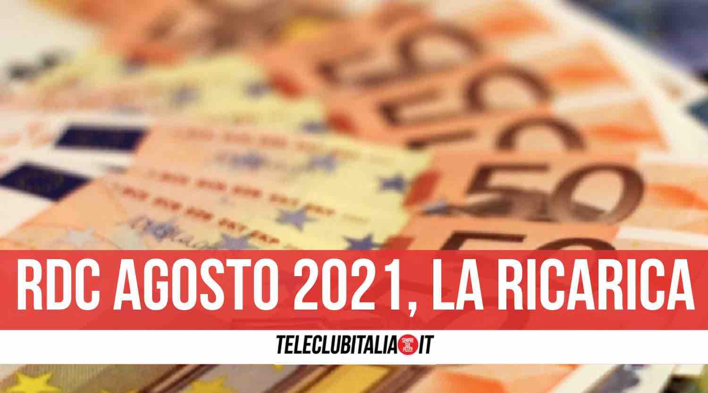 reddito cittadinanza pagamenti agosto 2021