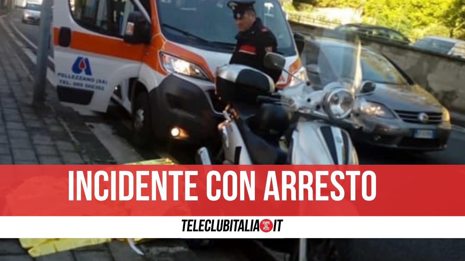 arrestato ponticelli napoli caduto scooter