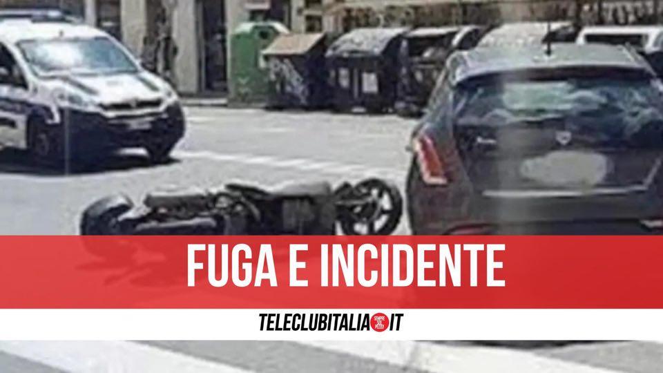 bacoli incidente contromano pistola scooter arrestato