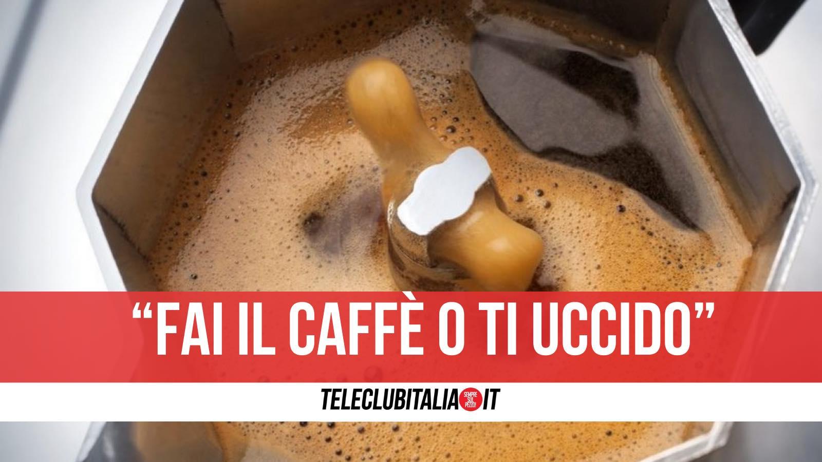 caffè marito violento condannato