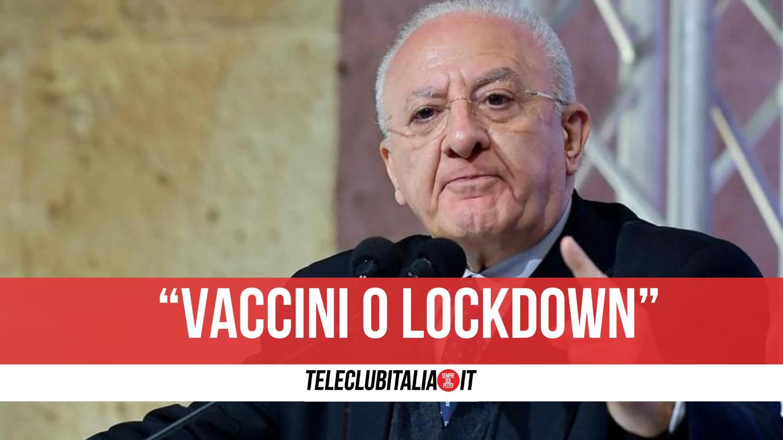 de luca lockdown