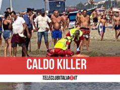 morto spiaggia eboli