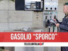 gasolio sporco pompa di benzina san nicola la strada