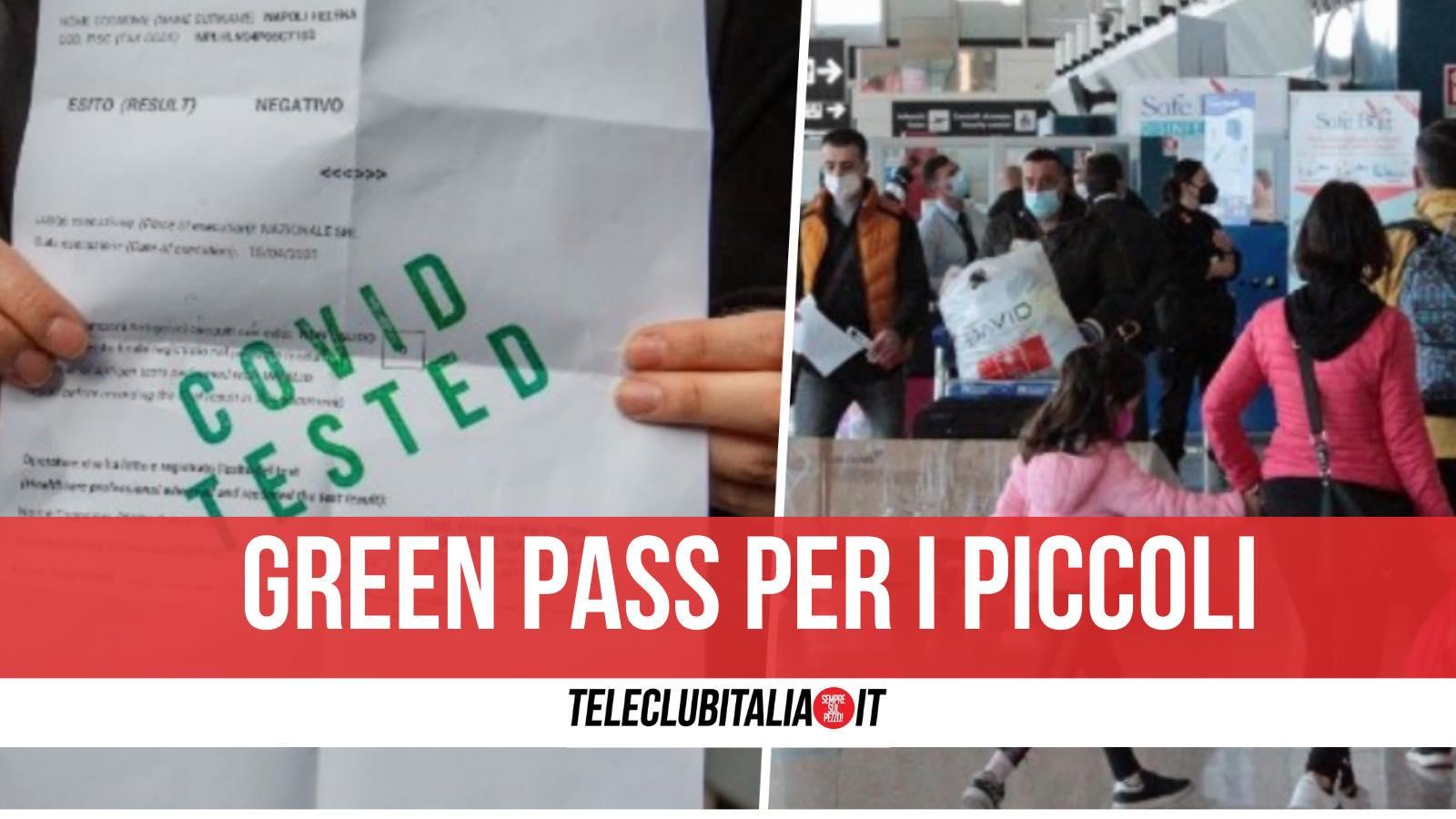 green pass bambini 12 anni