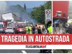incidente a2 morti