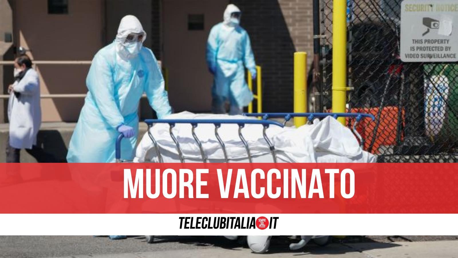 morto vaccinato agerola
