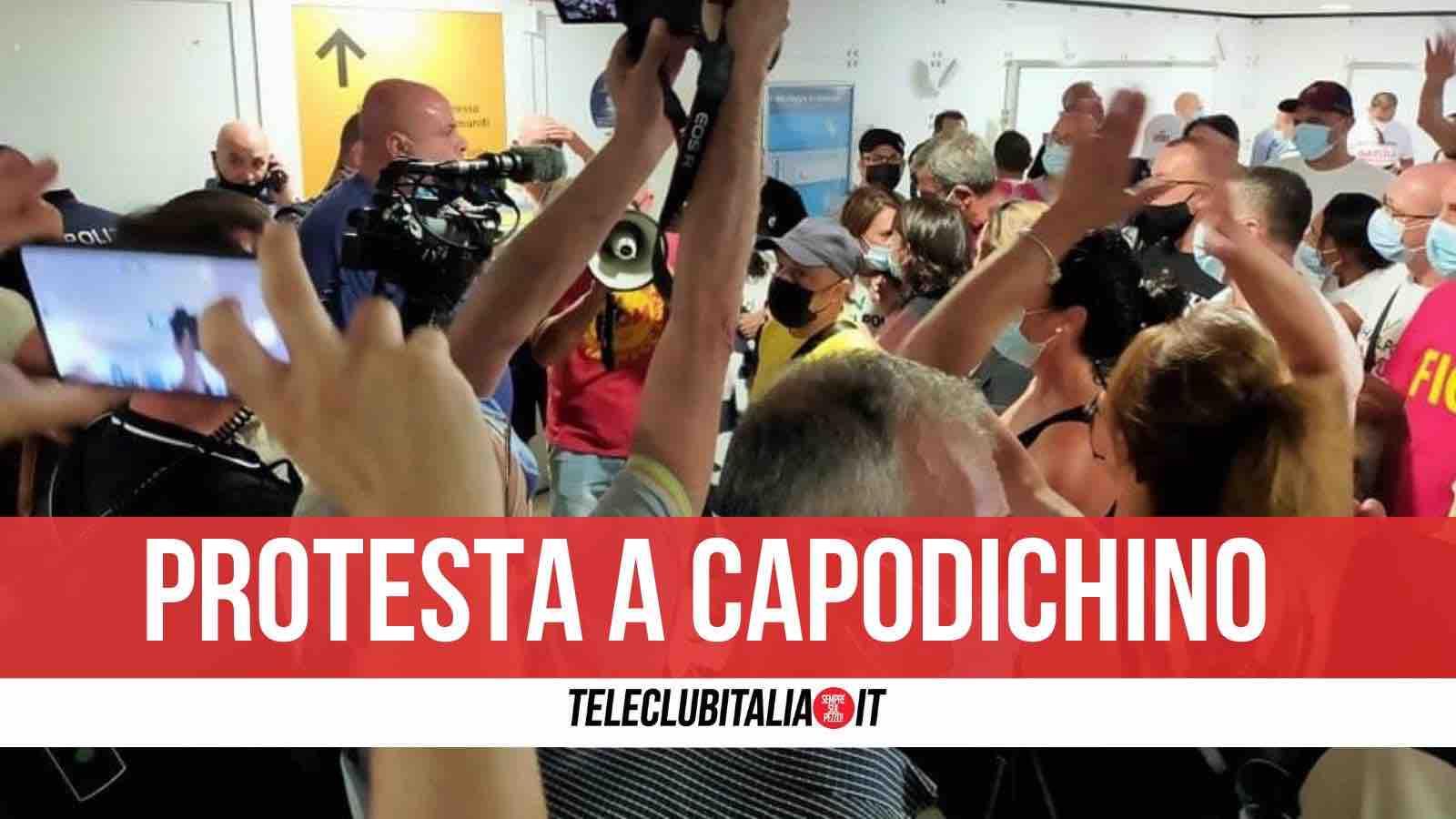 protesta whirlpool capodichino