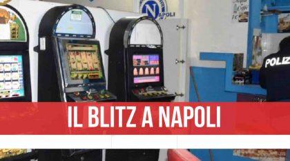 Napoli, sala slot clandestina: blitz della Polizia nel locale