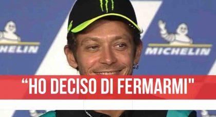 """Valentino Rossi si ritira, l'annuncio durante la conferenza: """"Decisione difficile"""""""