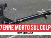 incidente monopattino scooter morto