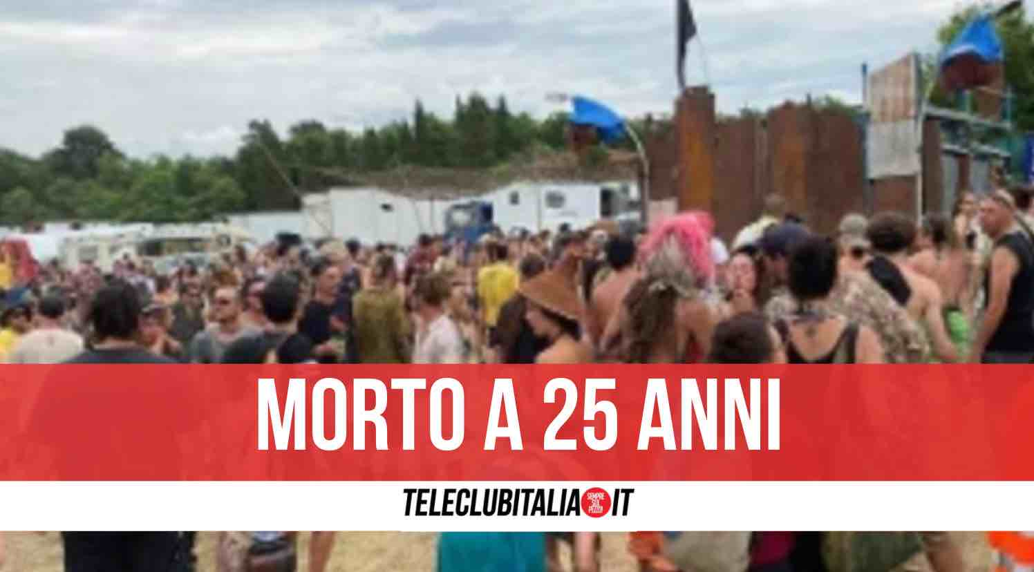 rave party morto 25enne