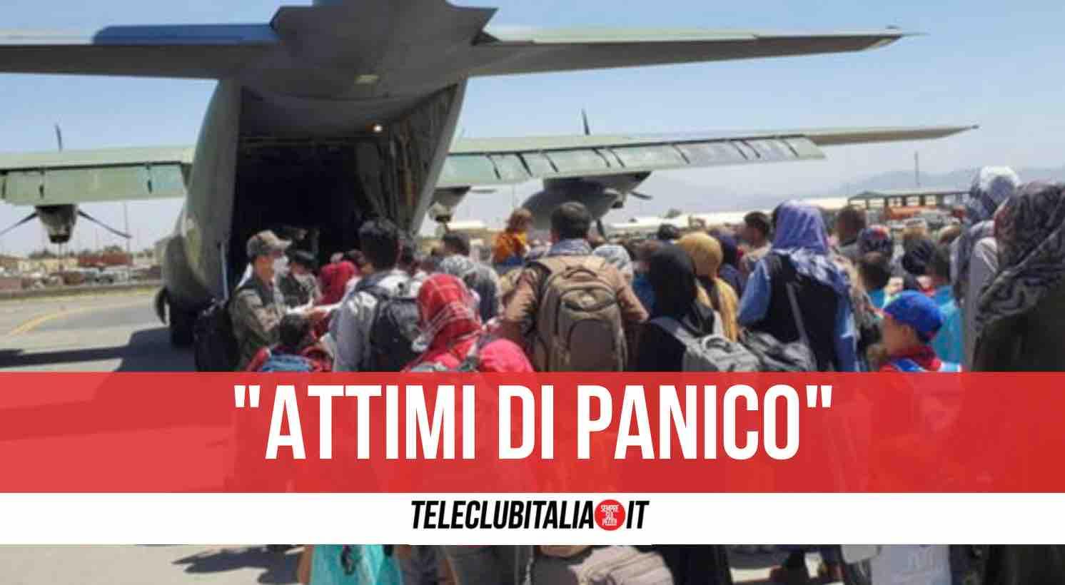 spari aereo italiano kabul