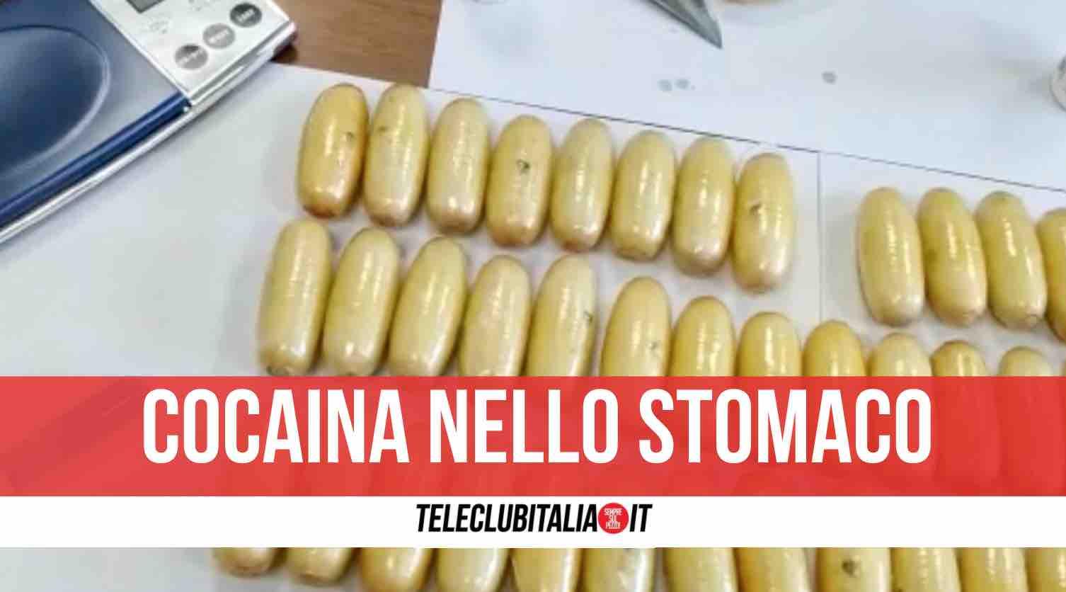 napoli arresto cocaina nell'addome