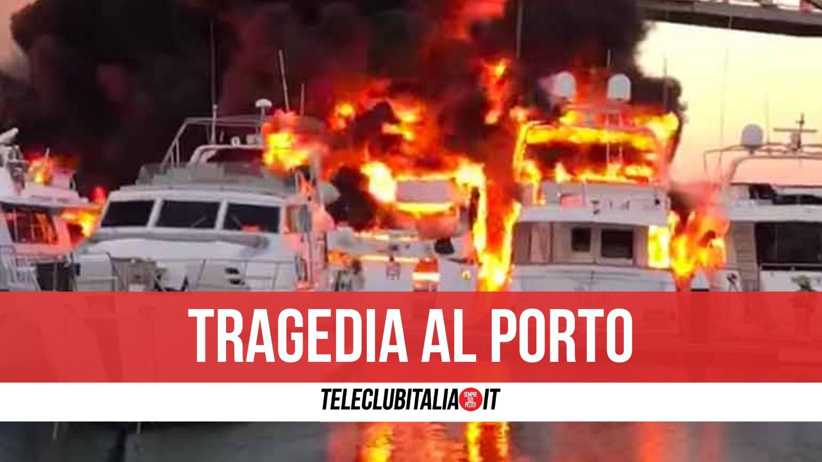 castellammare di stabia morta ragazza incendio barca