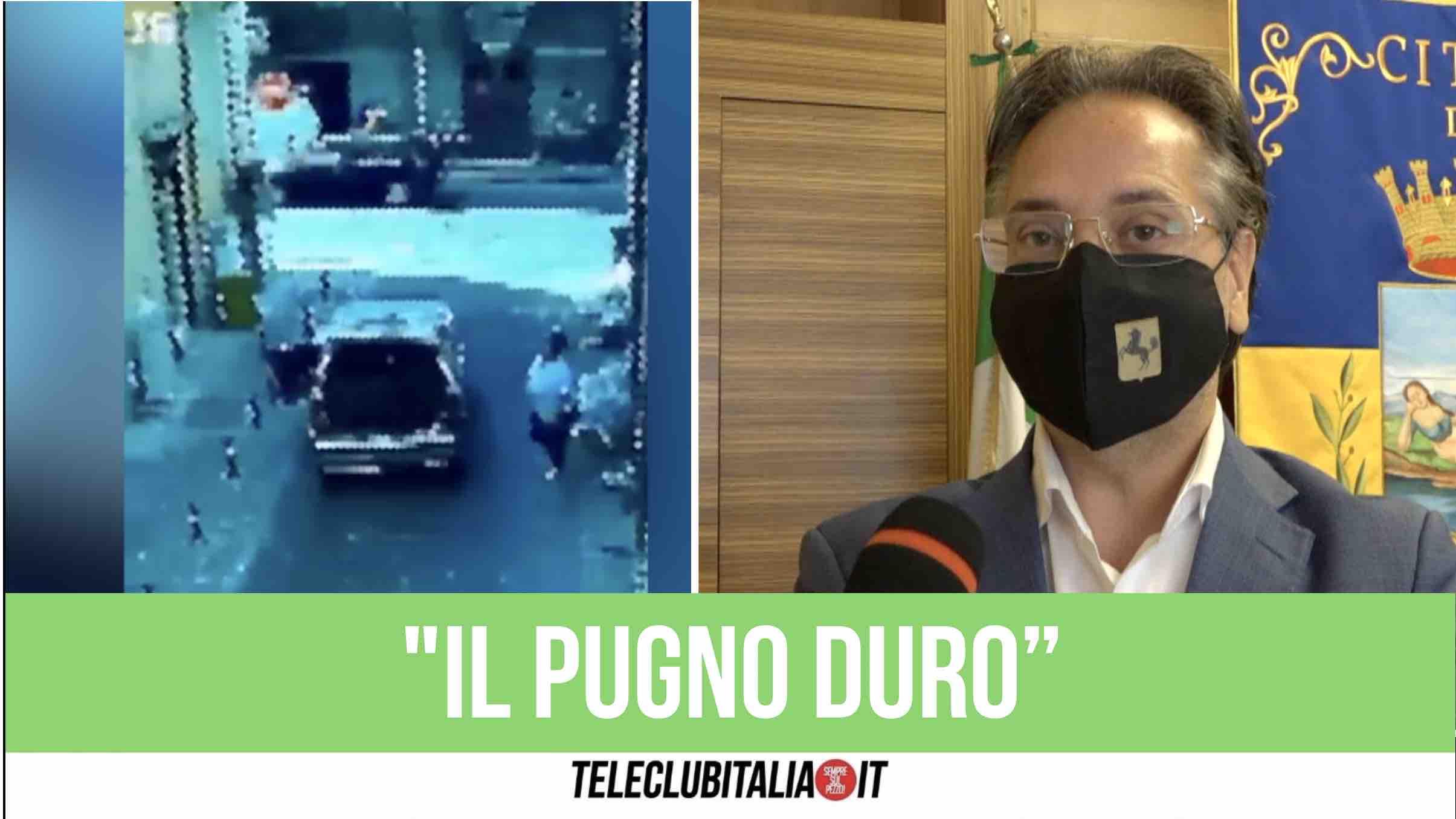 sindaco giugliano nicola pirozzi rifiuti abbandono multe