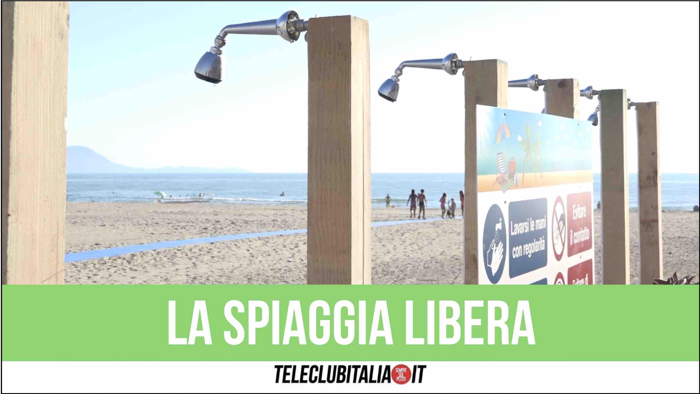 spiaggia libera licola giugliano stefano palma docce e anti covid
