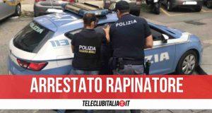 napoli arrestato rapinatore