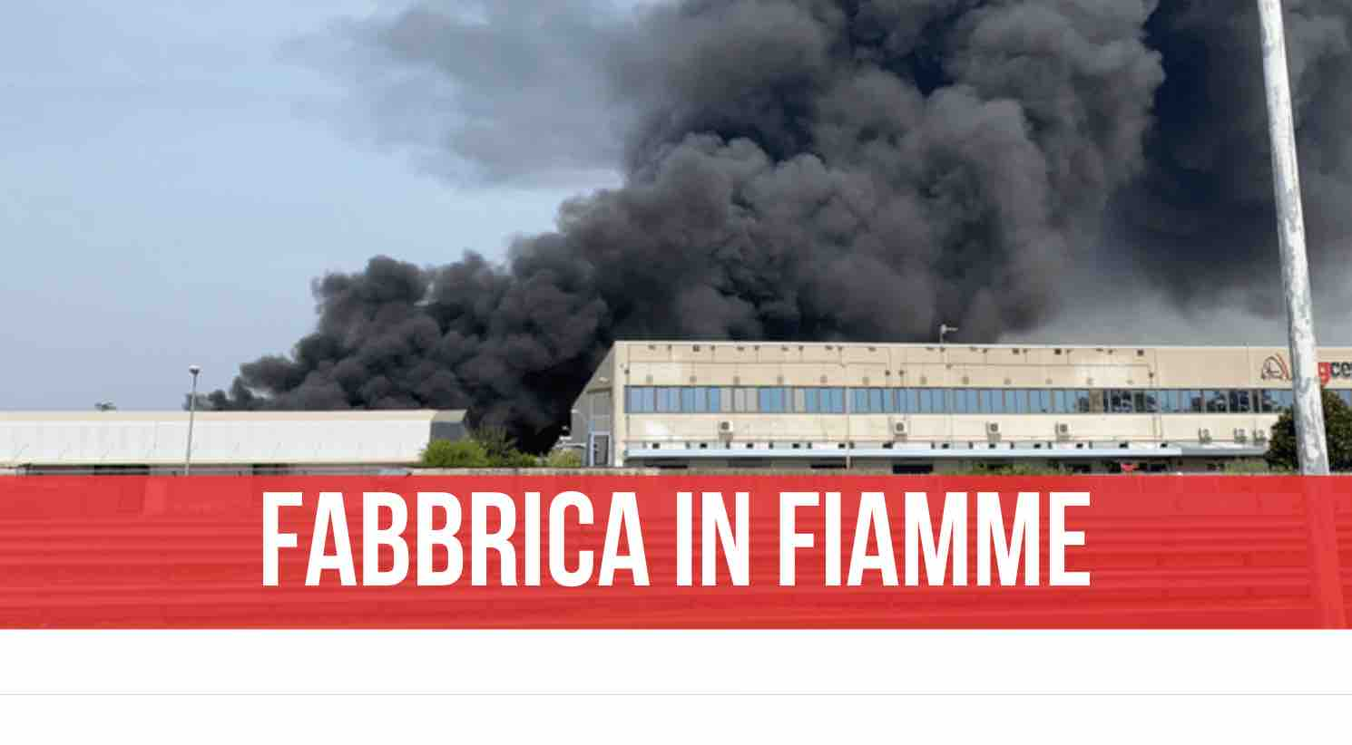 incendio fabbrica teverola