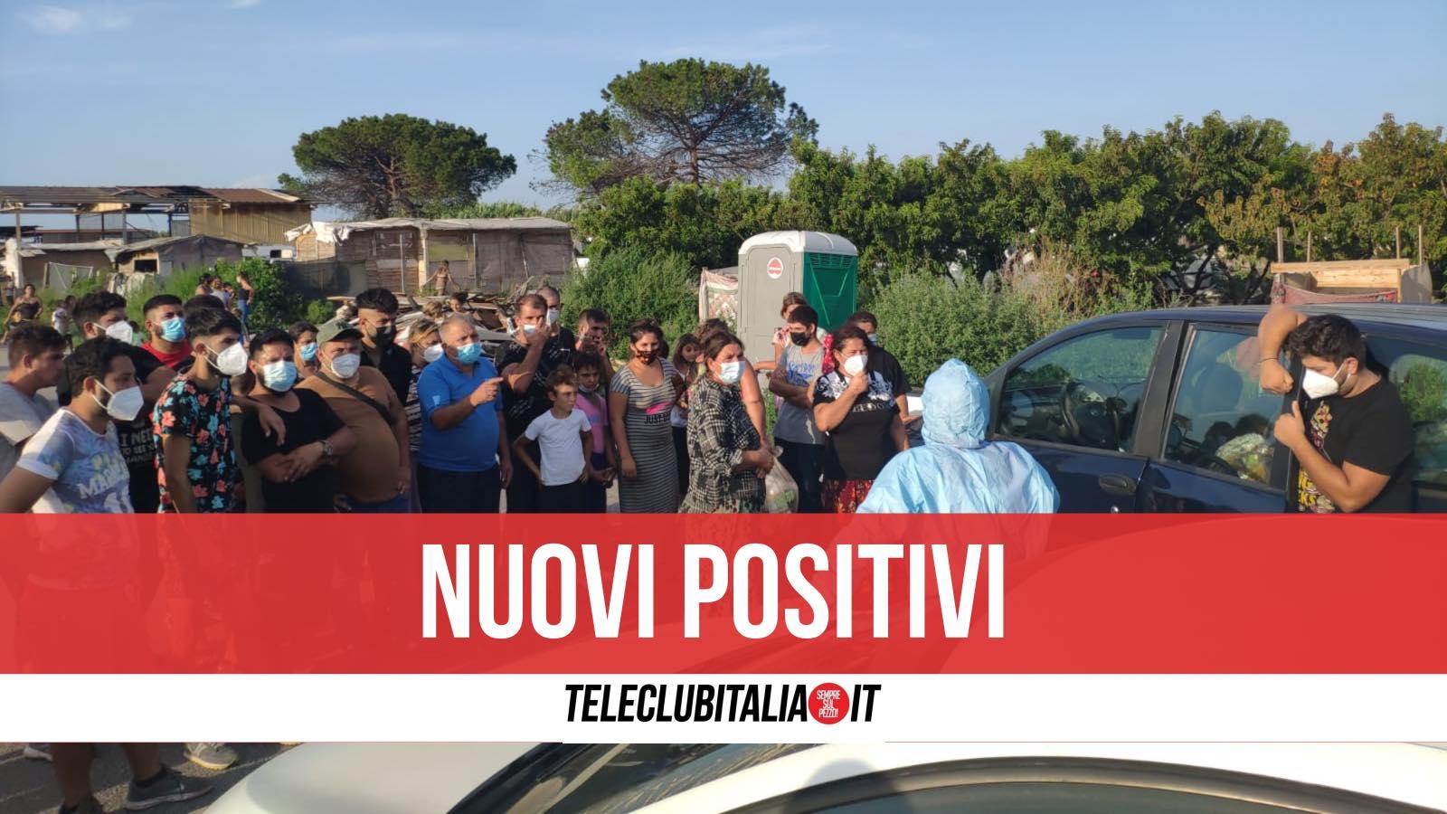 campo rom via carrafiello nuovi positivi