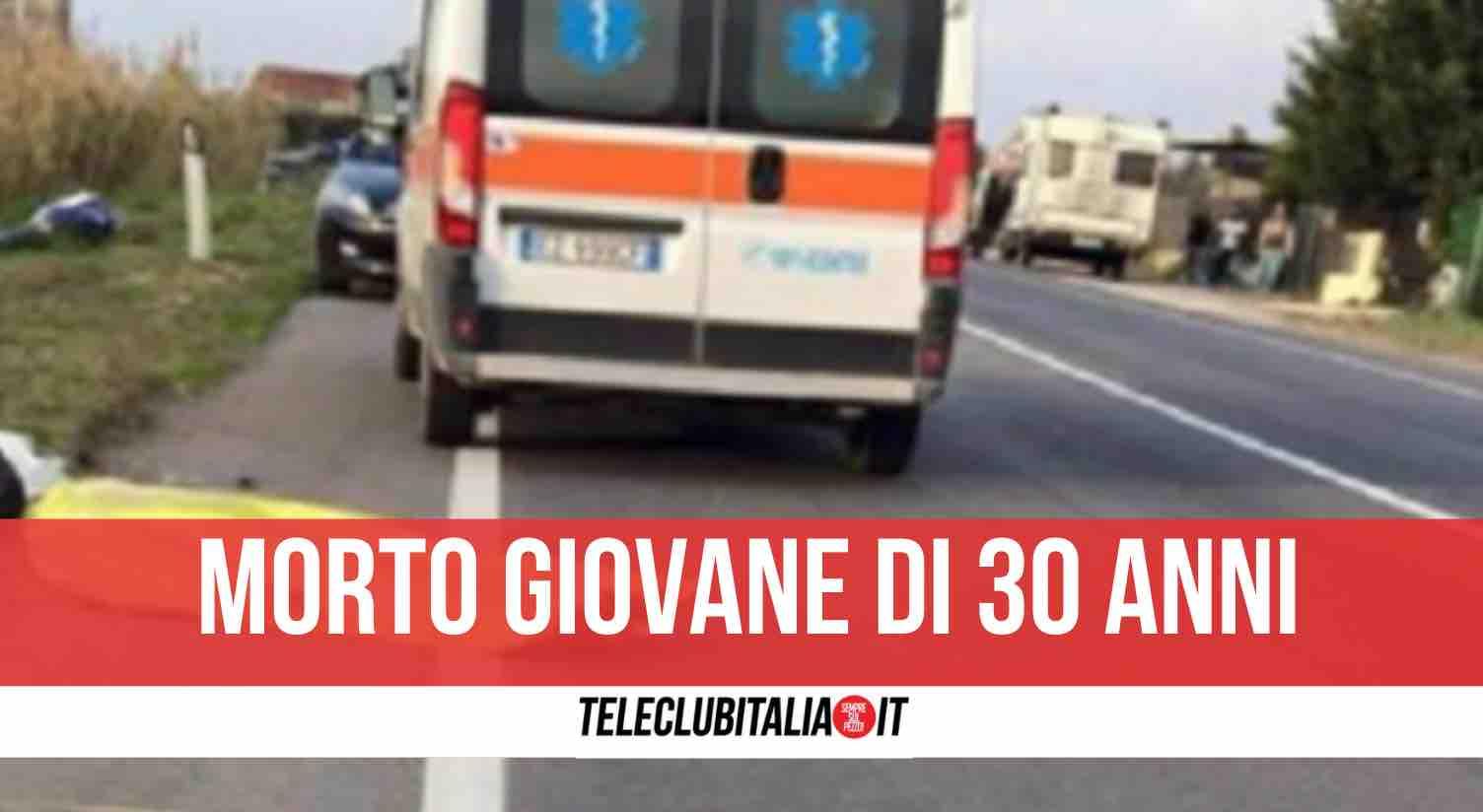 incidente statale caserta morto 30enne
