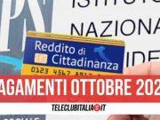reddito di cittadinanza pagamenti 27 ottobre
