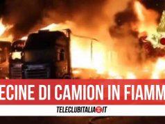 campania incendio camion