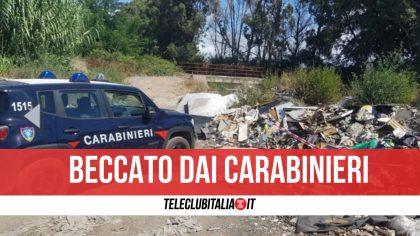 Giugliano, scoperto a gettare materiale edile nei pressi del campo rom: nei guai un 56enne