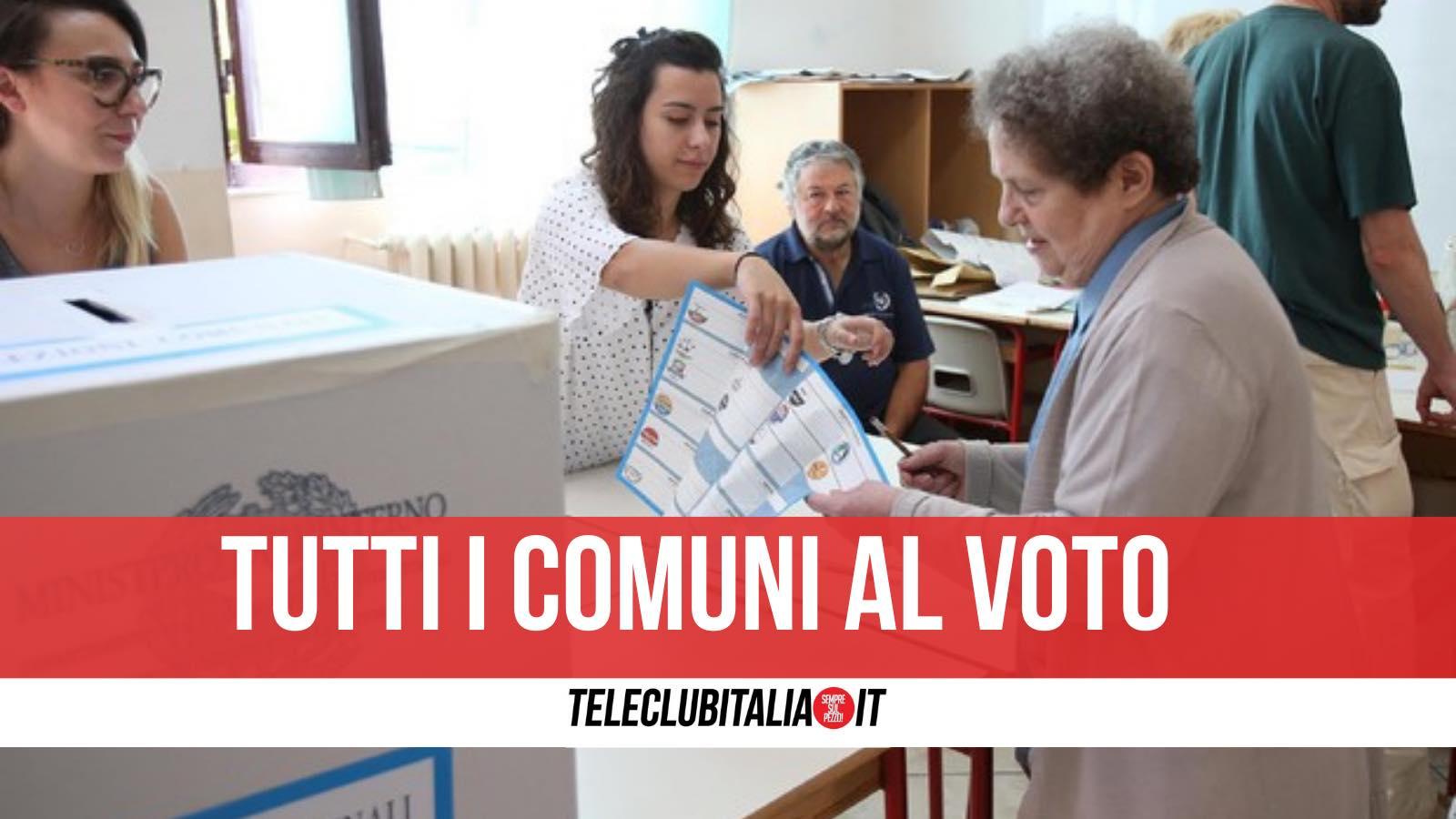 campania comuni al voto 3 4 ottobre