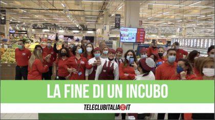 """Giugliano, apre Coop. I lavoratori ex Auchan:""""La fine di un incubo"""""""