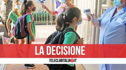 Focolaio in una scuola nel Napoletano: sindaco chiude tutti gli istituti fino al 5 novembre
