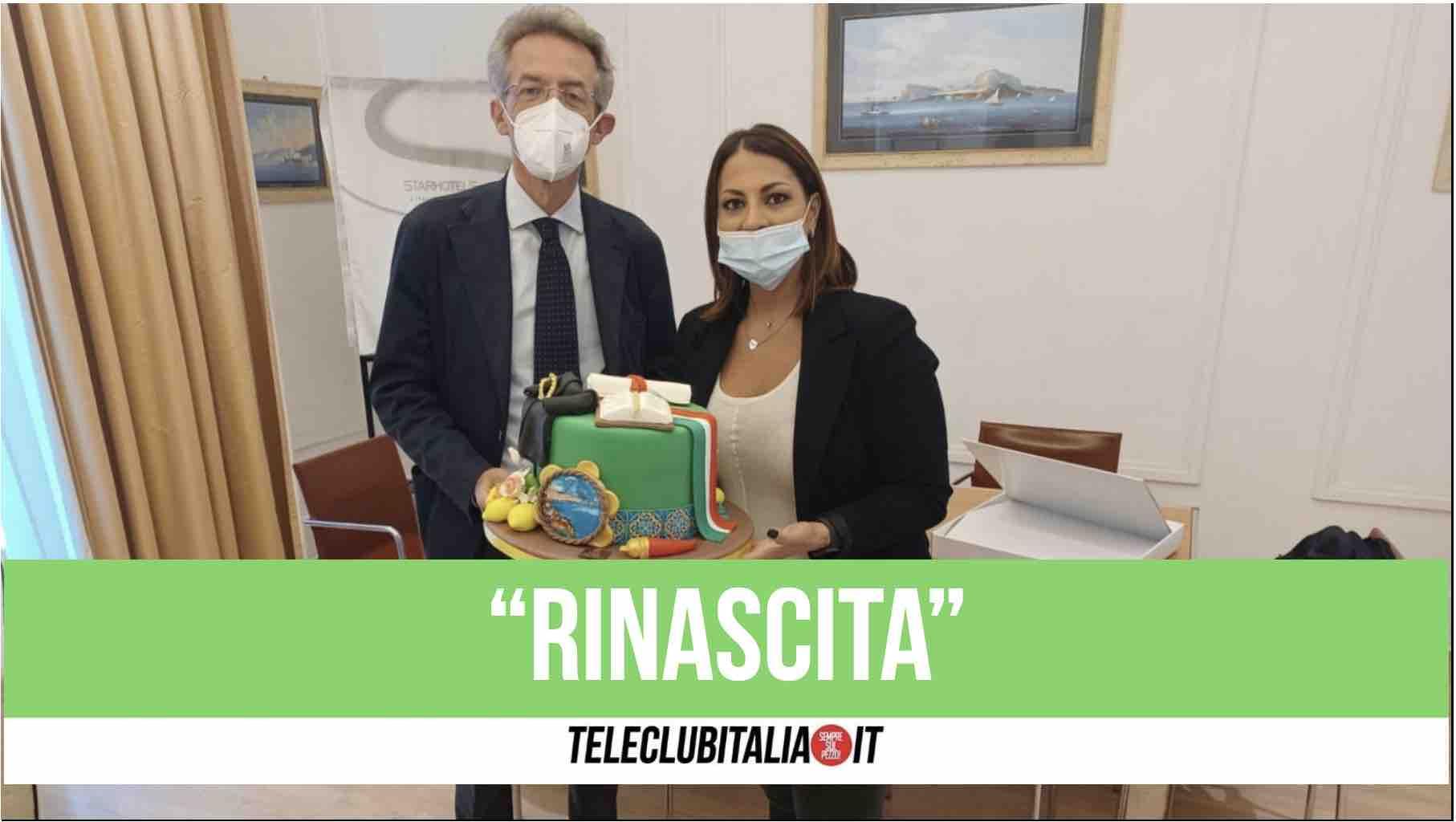 rinascita pastry chef maria de vito gaetano manfredi sindaco di napoli